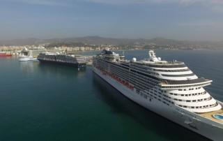 Tráfico de cruceros en Málaga