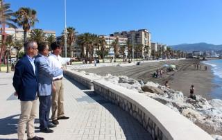 Visita zona de trasvase playa San Andrés