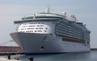 El Independence of the Seas en una anterior visita al Puerto de Málaga